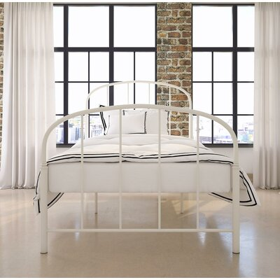 Oliver Metal Bed Size: Twin, Finish: White