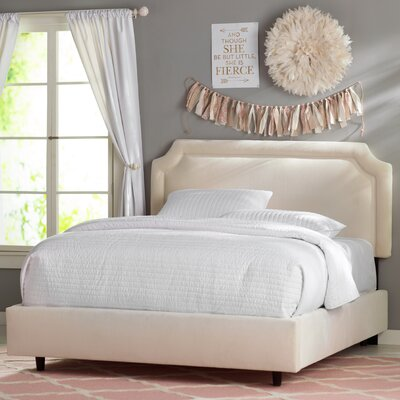 Grant Bed Size: Twin, Fabric: Regal Antique White