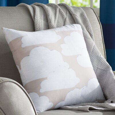 Shelia Khaki Clouds Throw Pillow