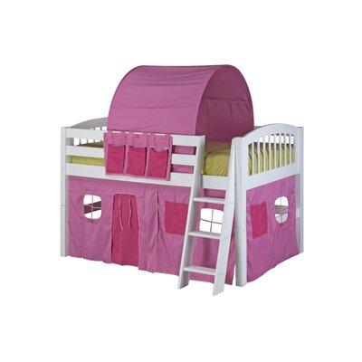 Isabelle Low Loft Bed with Playhouse