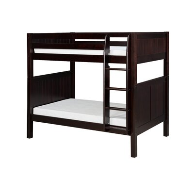 Oakwood Natural Twin Wood Bunk Bed with Storage