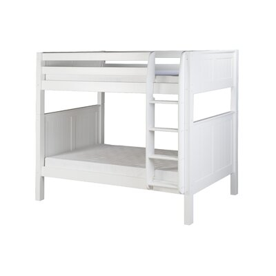 Oakwood Traditional Twin over Twin Bunk Bed Color: White