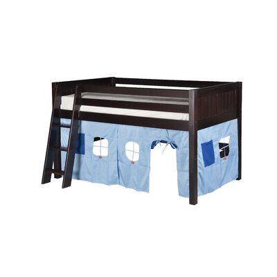 Oakwood Twin Solid Wood Low Loft Bed