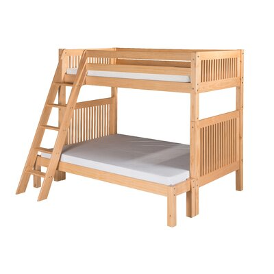 Oakwood Twin over Full Bunk Bed Finish: Natural