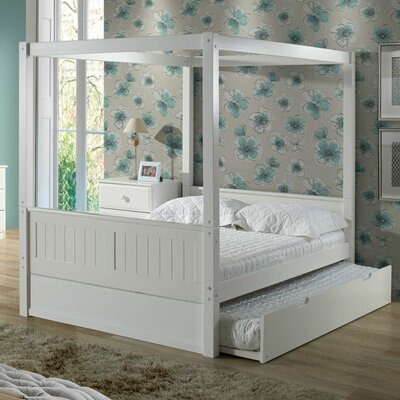 Oakwood Full/Double Canopy Bed with Trundle