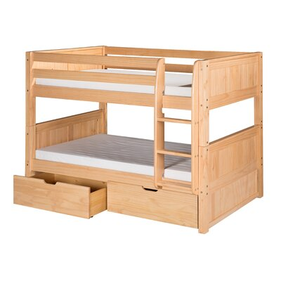 Isabelle Twin over Twin Bunk Bed with Storage Color: Natural