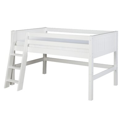 Isabelle Twin Low Loft Bed Color: White