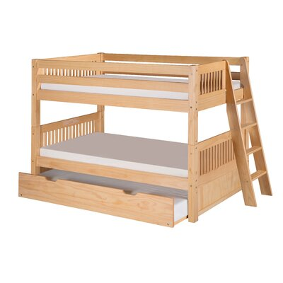 Isabelle Twin Bunk Bed with Trundle Finish: Natural