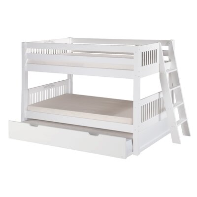 Isabelle Twin Bunk Bed with Trundle Finish: White