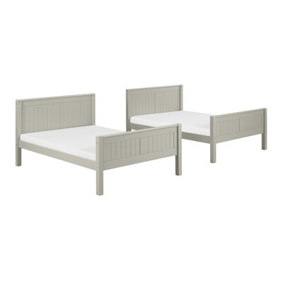 Isabelle Full Over Full Bunk Bed Color: Grey