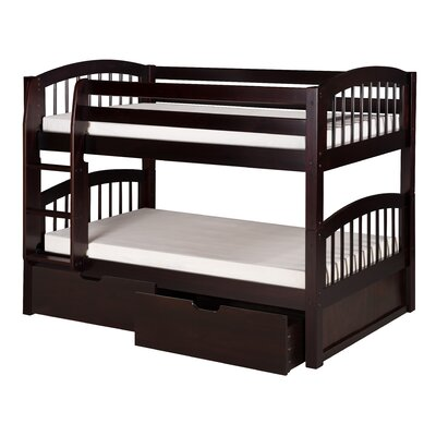 Isabelle Twin Bunk Bed with Storage Finish: Cappuccino