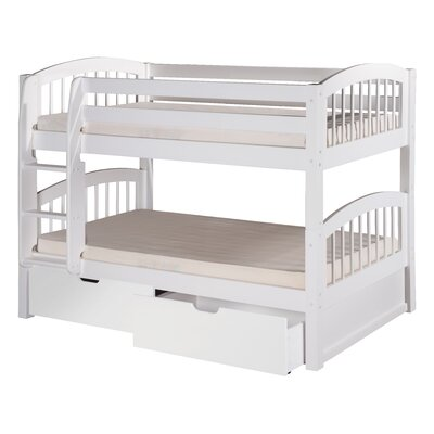 Isabelle Twin Bunk Bed with Storage Finish: White