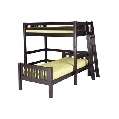 Oakwood Twin over Twin Loft Bed - L Shape Finish: Cappuccino
