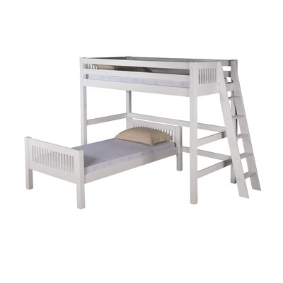 Oakwood Twin over Twin Loft Bed - L Shape Finish: White