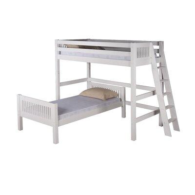 Oakwood Twin over Twin Loft Bed - L Shape Color: White