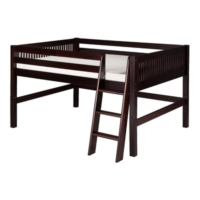 Isabelle Full Low Loft Bed Color: Cappuccino