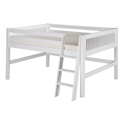 Isabelle Full Low Loft Bed Color: White