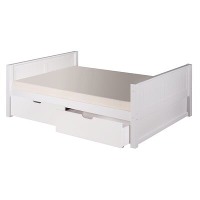 Isabelle Full/Double Platform Bed with Storage Finish: White