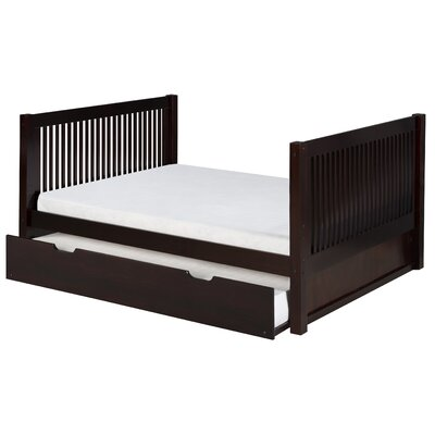 Isabelle Full Platform Bed with Trundle Finish: Cappuccino