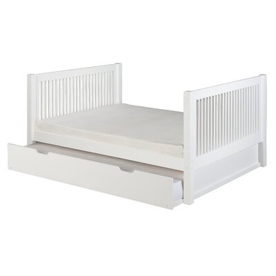 Isabelle Full Platform Bed with Trundle Finish: White
