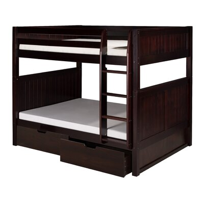 Isabelle Full over Full Bunk Bed with Storage Finish: Natural