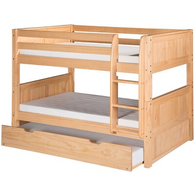 Isabelle Low Twin over Twin Bunk Bed with Trundle Color: Natural