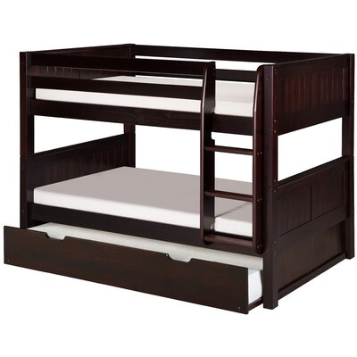 Isabelle Low Twin Bunk Bed with Trundle Finish: Cappuccino