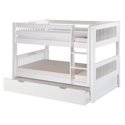 Isabelle Twin over Twin Bunk Bed with Trundle Color: White
