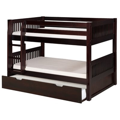 Isabelle Twin over Twin Bunk Bed with Trundle Color: Cappuccino