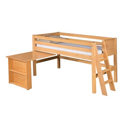 Isabelle Twin Low Loft Bed Color: Natural