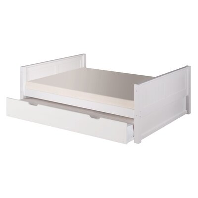 Isabelle Full/Double Panel Bed with Trundle Finish: White