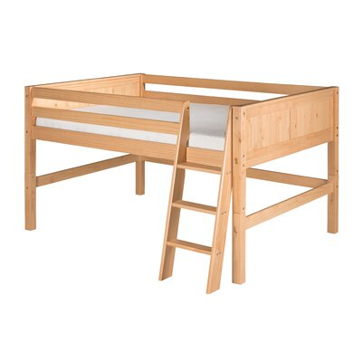 Isabelle Full Low Loft Bed Color: Natural