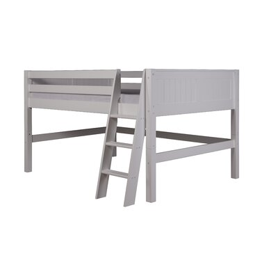 Isabelle Full Low Loft Bed Finish: White