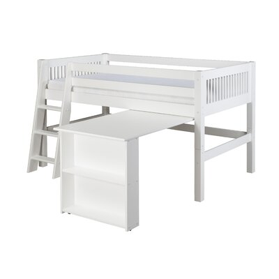 Isabelle Twin Low Loft Bed Finish: Cappuccino