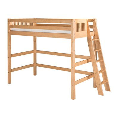 Isabelle Loft Bed Color: Natural, Size: Full