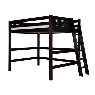 Isabelle Loft Bed Size: Full, Finish: Cappuccino
