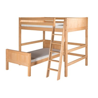 Oakwood Twin L-Shape Wood Bunk Bed Finish: Natural