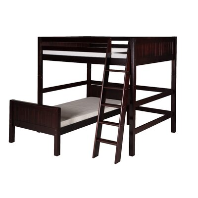 Oakwood Twin L-Shape Wood Bunk Bed Finish: Cappuccino