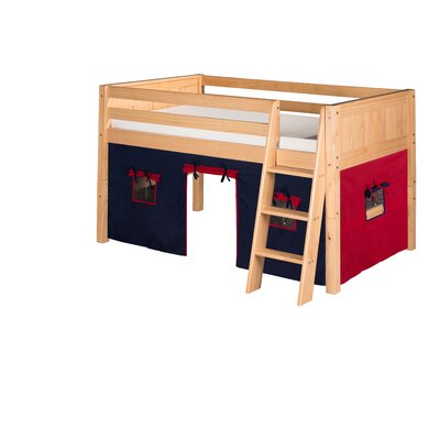 Oakwood Traditional Twin Wood Low Loft Bed