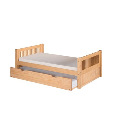 Isabelle Twin Platform Bed with Trundle Color: White