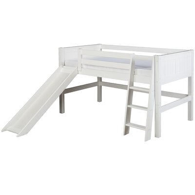 Twin Low Loft Bed Bed Frame Color: White