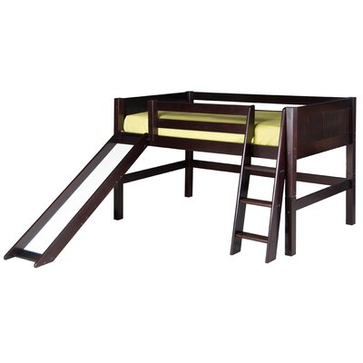 Twin Low Loft Bed Bed Frame Color: Cappuccino
