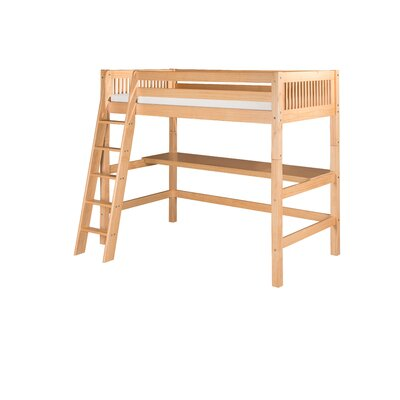 Oakwood Twin Loft Bed Finish: Natural