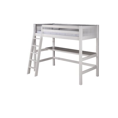 Oakwood Twin Loft Bed Finish: White