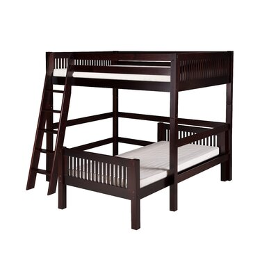 Isabelle Full over Twin L-Shape Loft Bed Finish: Cappuccino