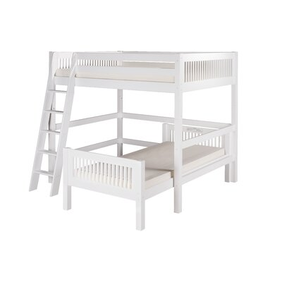 Isabelle Full over Twin L-Shape Loft Bed Finish: White
