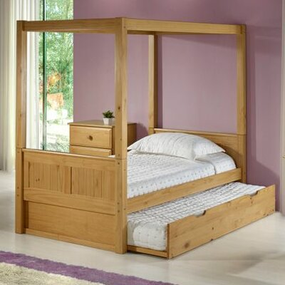 Oakwood Twin Canopy Bed with Trundle