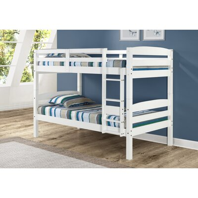 Mallory Twin Bunk Bed Finish: White