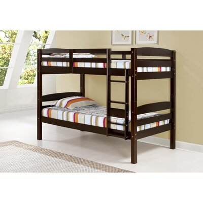 Mallory Twin Bunk Bed Finish: Cappuccino