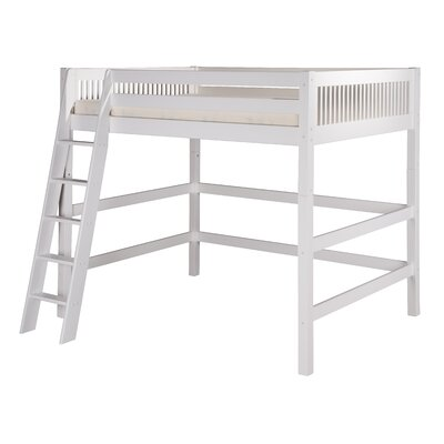 Isabelle Full Loft Bed Color: White